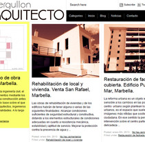 Diseño & Desarrollo web J.GULLÓN ARQUITECTO. A Design, and Web Development project by Beatriz Chaves Bueno         - 02.09.2012