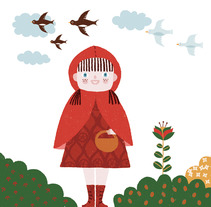 Caperucita. A Illustration project by Marta Antelo - 26-09-2012