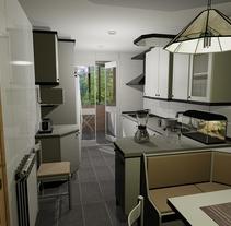 3D Cocina. Un proyecto de Diseño y 3D de Sergio Fernández Moreno         - 07.10.2012
