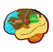 Ilustración / Anatomía ideológica del cerebro. A Illustration project by Diseño gráfico :: Maquetación  :: Ilustración - 16-10-2012