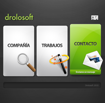 Drolosoft (2010). A Design, Advertising, Software Development, UI / UX, 3D&IT project by Juan Andrés Moreno Rubio - 23-10-2012