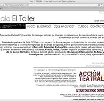 Web de Sala el Taller. A Design, and UI / UX project by Gabriel  Andújar         - 24.10.2012