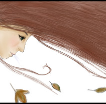 Autumn girl. Um projeto de Ilustração de Andrea Esteban Martín         - 01.12.2012