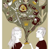 Wilco poster. Un proyecto de Ilustración de Estibaliz Hernández de Miguel - 02-12-2012
