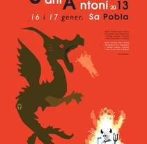 Poster Sant Antoni 013. A Design, Illustration, Advertising&Installations project by MARGA POL  - 27-01-2013