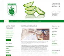 Site Web ALOFARM. Um projeto de Design, Ilustração, Desenvolvimento de software e Informática de Angel Pablo Martín Terriza         - 06.02.2013
