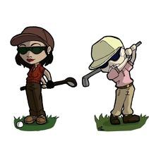 Diseño camisetas golfistas. Un proyecto de Diseño de María de la O Cominero Moreno - 12-02-2013