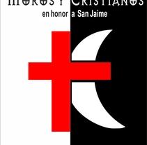 Cartel moros y cristianos. Um projeto de Design de Eduardo Moreno Montero - 20-02-2013
