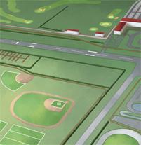 Mapa centro de deportes.. Un proyecto de Ilustración de Marco Antonio Paraja Corbato         - 21.02.2013