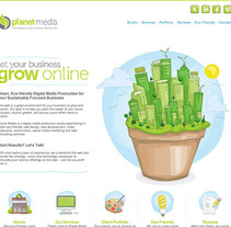 Sitio Web Planet Media. A Design, Illustration, Advertising, Software Development, UI / UX&IT project by Jonathan Rikles - 04-03-2013