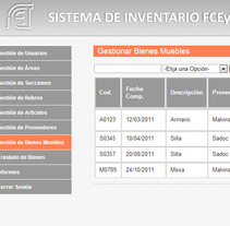 Sistema de Inventario FCEyT. A Design, Software Development&IT project by Ana Sisnero y Silvina Herrera - 07-03-2013
