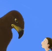 Hablando con la señora águila. Um projeto de Ilustração de Shiru CM         - 19.06.2013
