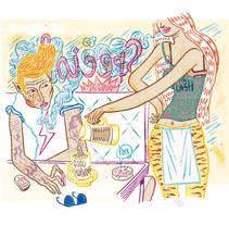HUMO (Libro ilustrado) Del Hambre dibuja y 16 autores escriben. Publicación: MARZO 2014. Un proyecto de Diseño, Ilustración, Publicidad, Música, Audio, Cine, vídeo y televisión de Del Hambre  - 20-06-2013