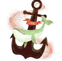 Whale in summer!. Un proyecto de Diseño, Ilustración, Publicidad y Fotografía de Jotaká  - 21-06-2013
