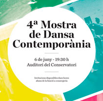 Mostra de Dansa 2013. A Design project by Andrés Ojeda - Jul 02 2013 02:20 PM