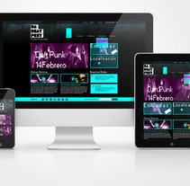 RWD for a Electronic Music Festival. A Design, and UI / UX project by Aurora Sanz         - 16.07.2013