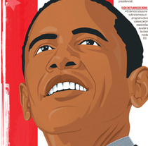 Elección de Obama. A Design&Illustration project by allangraphic  - Oct 28 2013 06:31 AM