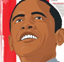 Elección de Obama. Un proyecto de Diseño e Ilustración de allangraphic  - Lunes, 28 de octubre de 2013 06:31:04 +0100