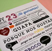 Tarjeta de cumpleaños. Un proyecto de Diseño de Marina Alonso-Carriazo         - 06.11.2013