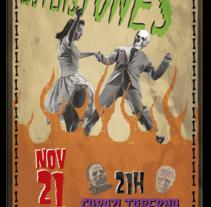 Cartel para concierto Los Plastones. Un proyecto de Diseño e Ilustración de Tomás Varela         - 12.11.2013