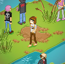 Poster Reserva Ecologica - Ilustracion Pixel Art. A Design, Illustration, and Advertising project by Kaeru          - 24.11.2013