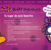 Escaracucas (lugar de ocio infantil). A Design, Illustration, and Software Development project by Angel Pablo Martín Terriza         - 25.11.2013