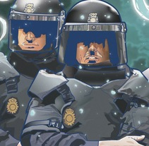▽ AntiPLAY police vector. A Illustration project by Gustavo Solana         - 25.11.2013