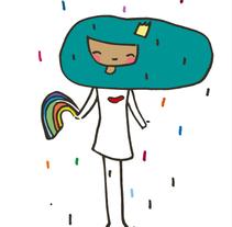 La niña del pelo azul. Un proyecto de Diseño, Ilustración y Publicidad de Marta  Salvador Mancho - 13-01-2014