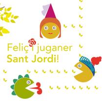 Feliç i juganer Sant Jordi amb everis. A Illustration, Animation, Br, ing, Identit, and Game Design project by theroomrooms'         - 22.04.2015
