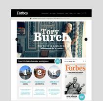 Forbes Magazine. Un proyecto de UI / UX de Alex Velasco         - 20.12.2013
