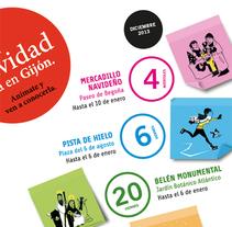 Serie de Ilustraciones para mupi de las fiestas navideñas del Ayuntamiento de Gijón.. Un proyecto de Ilustración de Marco Antonio Paraja Corbato         - 05.11.2013