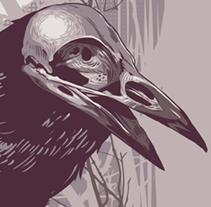 Crows&Skulls. A Illustration project by Oscar Tello Martín         - 30.01.2014