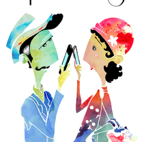 Phubbing. Un proyecto de Diseño, Ilustración y Publicidad de Cristina J. Granados         - 26.01.2014