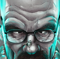 Walter White Caricature. A Illustration project by Oscar Tello Martín         - 19.01.2014