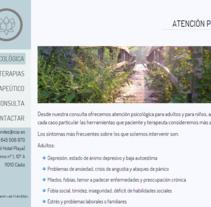 Web Psicóloga. A IT, Web Design, and Web Development project by Iván González - 16-08-2013