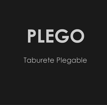 Taburete Plegable. A Product Design project by Alexia Alvarez - 11.19.2013