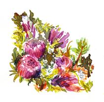 abecedario floral. Un proyecto de Ilustración de Serina Maio         - 16.03.2014