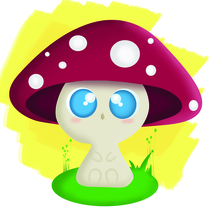 Baby Mushroom . A Illustration, Animation, and Character Design project by Trixie V - 11-02-2014