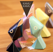KAMU KAMU papertoy card holders. A Industrial Design, Product Design, To, and Design project by Vicenç Lletí Alarte         - 09.10.2013
