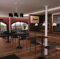 propuesta cafeteria estilo clasico. Um projeto de Arquitetura de interiores de Israel colino         - 04.01.2014