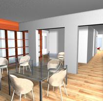 vivienda barcelona. Un proyecto de 3D de Montse Quirós         - 03.03.2014