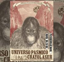 Cartel CRAYOLASER + UNIVERSO PÁSMICO. Un proyecto de Diseño, Ilustración y Diseño gráfico de Fernando Prieto Serrano         - 05.03.2014