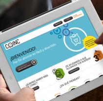 Coinc - Diseño web. Un proyecto de Diseño Web y UI / UX de Jimena Catalina Gayo - 12.10.2012