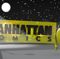 Cortinilla publicitaria Manhattan Comics.. A 3D, Animation, and Multimedia project by Josevi Blender         - 13.03.2014
