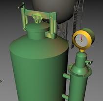 TANQUES o Recipientes de almacenamiento en 3d. Un proyecto de 3D de Andres Torres A.         - 31.03.2014