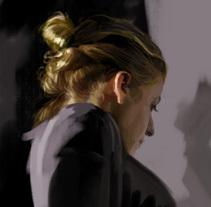 Silvia, proceso de creación. Un proyecto de Ilustración, Bellas Artes y Pintura de Adrià Llarch         - 09.04.2014