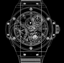 Calendario Relojes Hublot. A Art Direction, Editorial Design, and Graphic Design project by Nuria Mestre García         - 10.04.2014