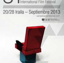 Concurso de carteles 61 Festival de cine internacional de San Sebastián. Un proyecto de Diseño gráfico de Patricia Fernández Ruibal         - 17.02.2013