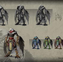 Eagle Fighter Concept. A Illustration, Character Design, and Fine Art project by David  Iglesias Martínez - 09-05-2014