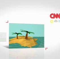 Cabecera CNN Weather Edition. Un proyecto de Motion Graphics, Dirección de arte y Diseño gráfico de Álvaro Melgosa         - 23.05.2014